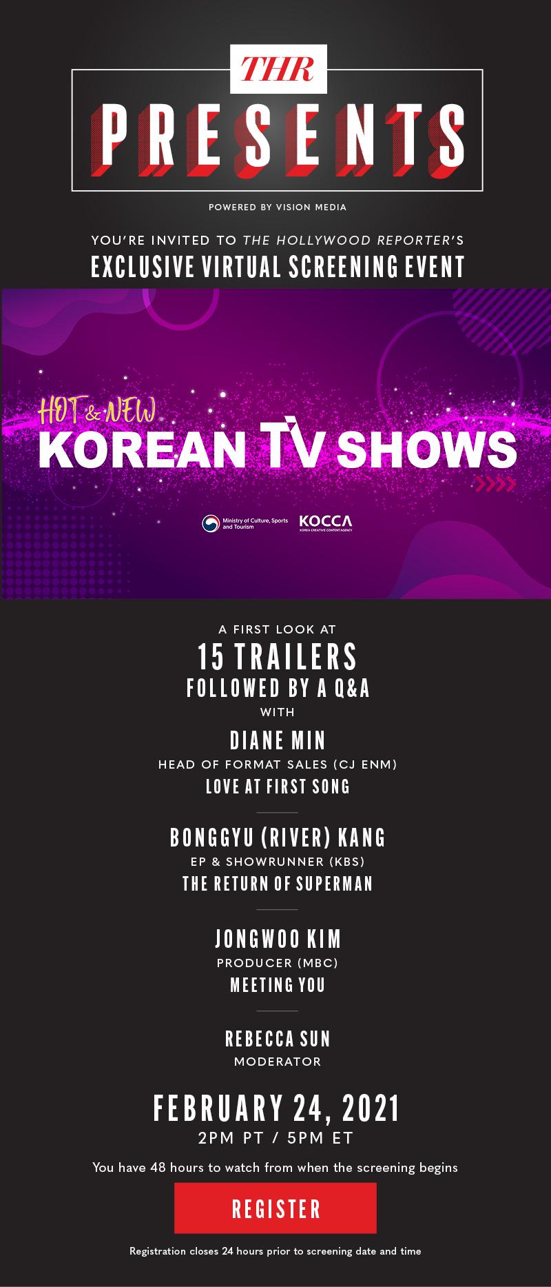 Exclusive Invitation: HOT & NEW KOREAN TV SHOWCASE + Q&A
