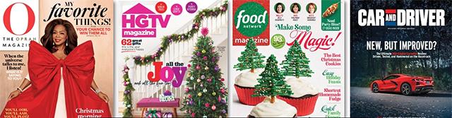 O, The Oprah Magazine, HGTV Magazine, Food Network Magazine, Car and Driver