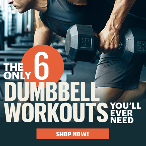 Check out the 6 essential, mobile-friendly, dumbbell workouts that you can take anywhere.