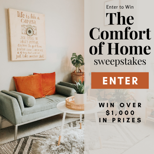 Enter for a chance to win: Home Products from Multitasky ($200 value), a Speaker System from Rocksteady ($275 value), $100 credit to Zip Top Wynd Plus Portable Air Purifier ($200 value); a $200 Target Gift Card and an Infuse Whole-Home Cleaning Kit ($50 value).