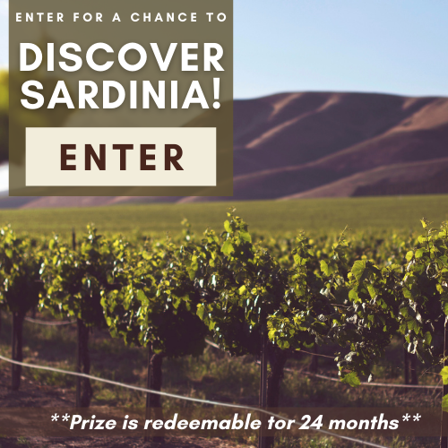 Enter for a chance to win: A $1,000 AMEX gift card for travel, five nights (double occupancy) at the deluxe Hotel Li Finistreddi, three days touring Sardinia's finest wineries including Argiolas Winery, Vini Pala, Cantina di Santadi, Sella e Mosca Winery & more; and a $250 gift card to ALALA!