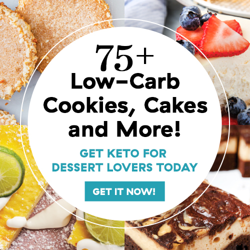 We hope you saved room for dessert! Whether you're full-on keto or just keto-curious, this fully photographed, 160-page spiral-bound cookbook targets everyone's favorite part of the meal: dessert. Check it out!