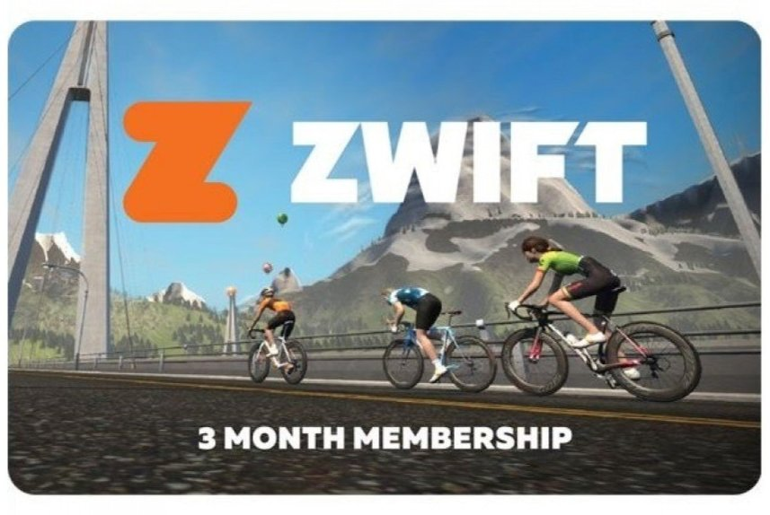Zwift 3 Months Membership Card