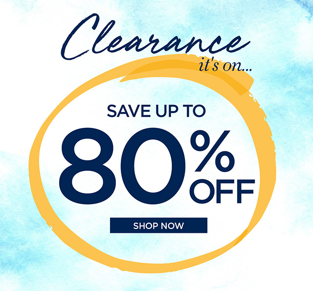 Clearance it's on - Sale up to 80% Off Clearance - Shop Now