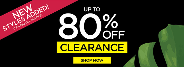Up to 80% Off Clearance
