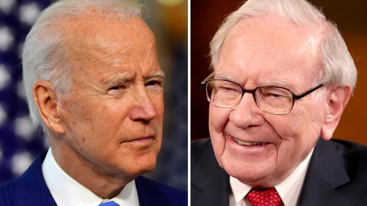 Joe Biden (Reuters photo)/Warren Buffett (CNBC photo)