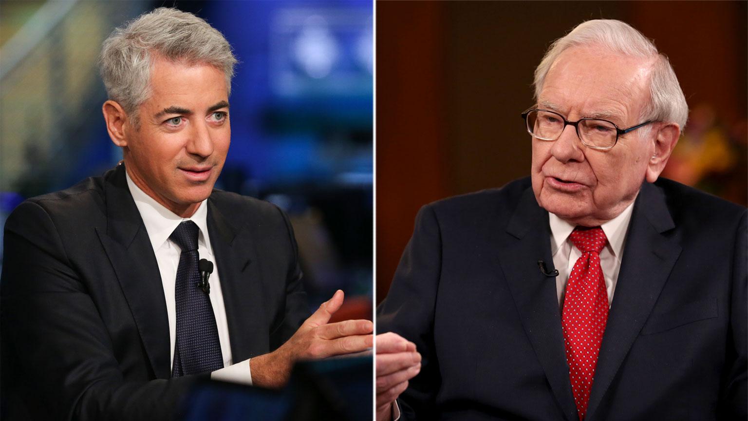 Bill Ackman/Warren Buffett - CNBC Photos