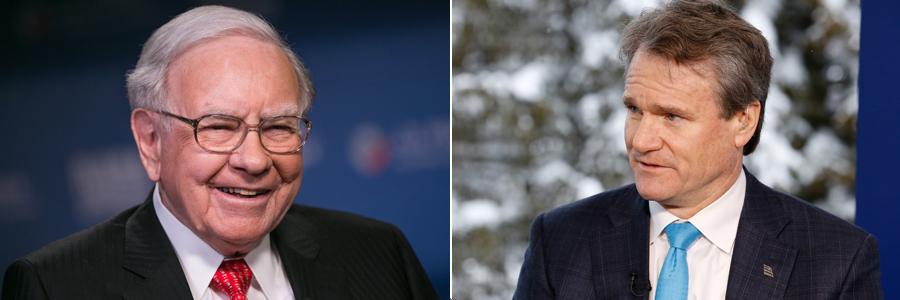 Warren Buffett/Brian Moynihan -- CNBC photos