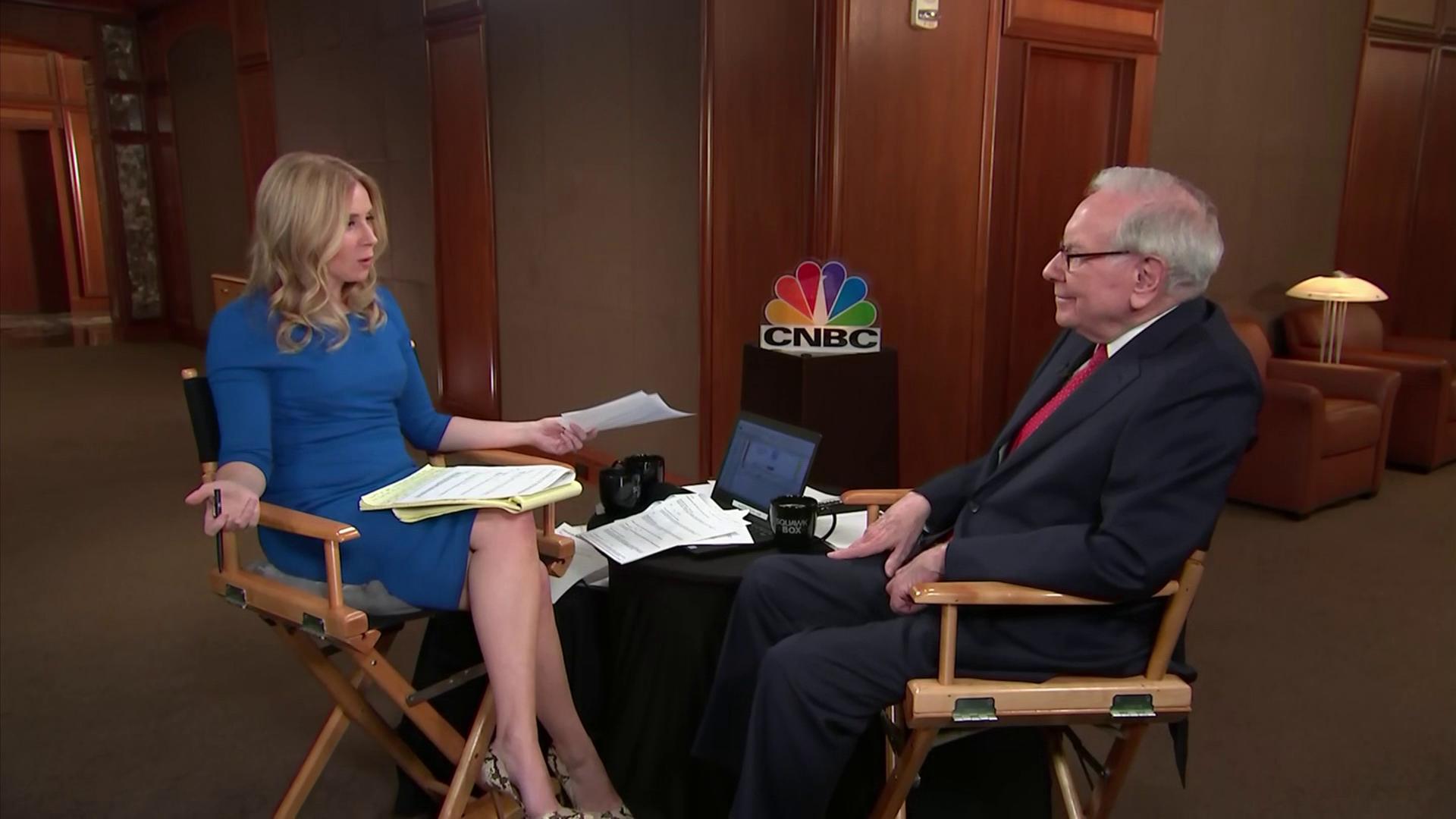 CNBC's Becky Quick interviews Warren Buffett on ''Squawk Box,''  February 24, 2020