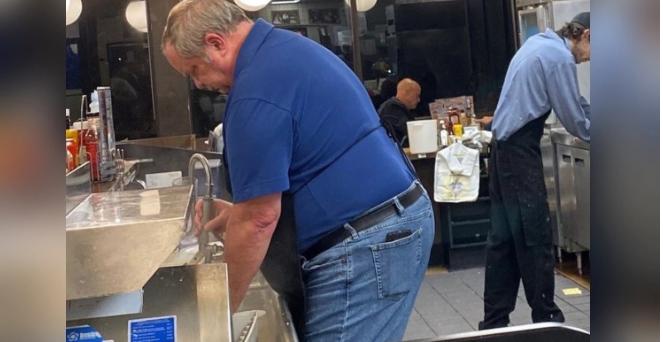 man at Waffle House