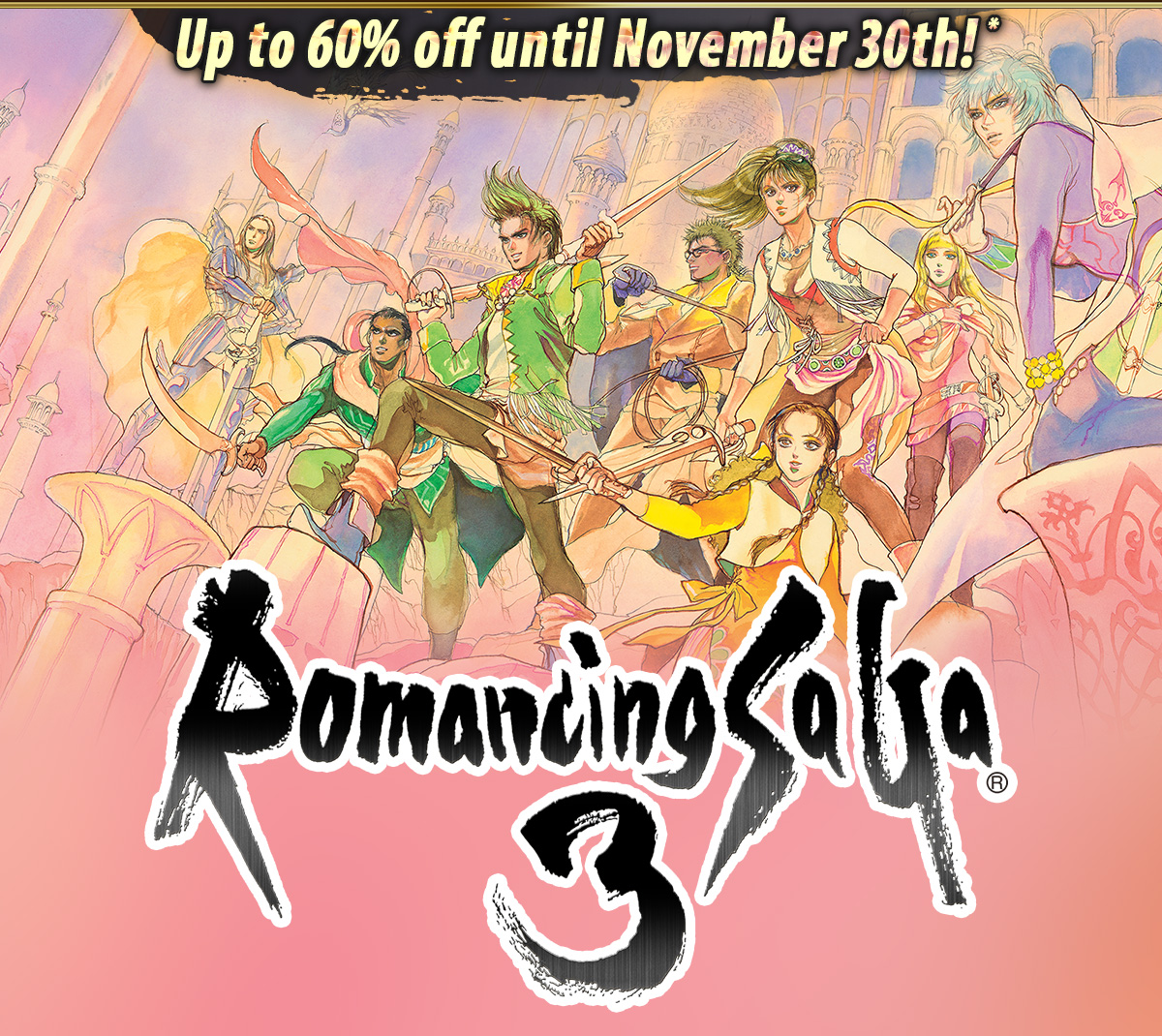 Up to 60% off until November 30th!*